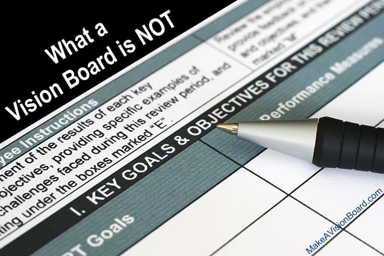 What a Vision Board is NOT - http://makeavisionboard.com