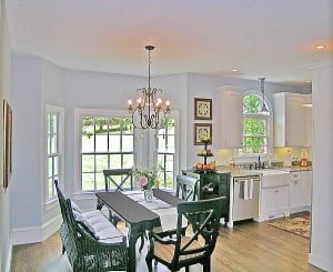 Casual Dining Room - Manifesting your dreams at http://makeavisionboard.com/build-your-dream-home-thoughts-on-the-emotion-in-the-intention/