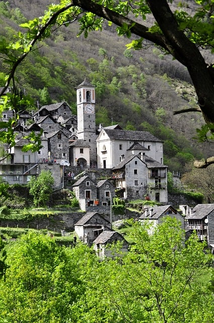 Bergdorf Ticino Alpine Stone House in the happiest country on earth - http://makeavisionboard.com/happiest-country-on-earth/