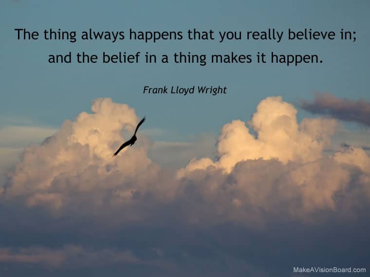Law of Attraction quote - Frank LLoyd Wright - http://makeavisionboard.com/what-is-the-law-of-attraction/