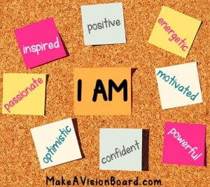 I Am Affirmations Board - find out more at http://www.makeavisionboard.com